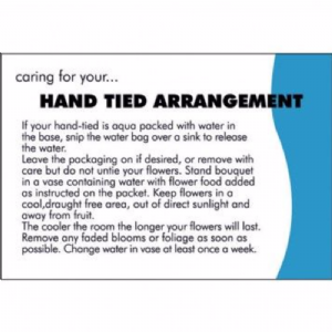 HAND TIED CARE CARD  6890